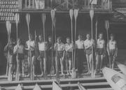Harcerze zgimnazjum nr2 wNowym Sączu, przy swoich kajakach. Rok 1933
